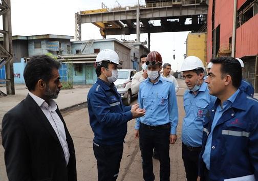 بازدید مسئولان شرکت گروه ملی از کارخانجات فولاد سازی